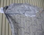 Estonian Lace shawl with Nupps, Silvia, Gray