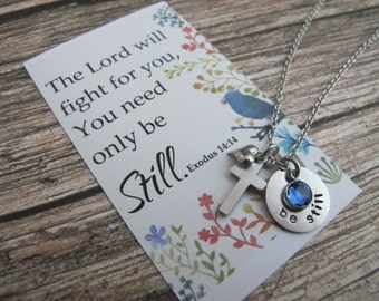 For her-Best Friend Gift-Scripture Jewelry-Christian Jewelry-Faith Gift-Religious Gift-Bible verse Gift- 40th Birthday Gift