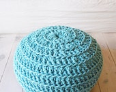 Pouf Crochet - Thick Cotton - Blue