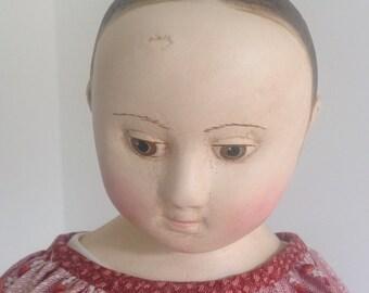 The Little Hamptons reproduction of Hannah an antique Izannah Walker doll. by Lynda Hampton