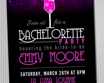 Bachelorette Cocktail Party Invitation *Digital Download*