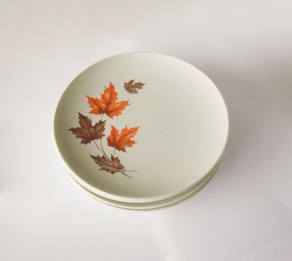 Texas Ware Melamine Dinnerware Plates Brown And Orange Fall