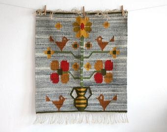 Bird Woven Wool Tapestry