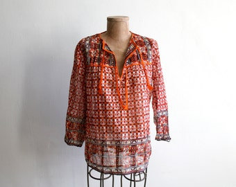 Indian Cotton Tunic Blouse