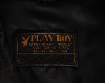 vintage Playboy cafe racer jacket