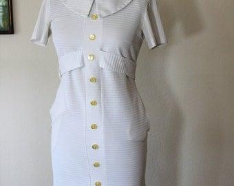 1960s Waitress Uniform Dress // Peter Pan Uniforms // Extra Small
