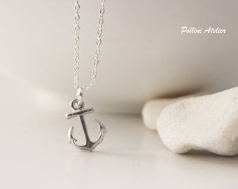 Anchor Necklace in Gold/ Silver. Hope Necklace. Graduation Gift. Good Luck Gift. Unisex Gift (PNL- 16)