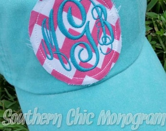 Preppy Monogrammed Baseball Cap hat Bridesmaid Sorority Christmas gift Personalized hat Summer cap Trucker cap Beach Cap Hat Big Little