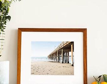 Framed Art, Beach Photography, Ventura California, Pier Photography, Beach Wall Art, Framed Beach Art, Coastal Decor, Wooden Frame