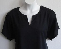 SALE/DEFECT L -  Post Surgery Shirt - Shoulder, Breast Cancer, Mastectomy / Adaptive Clothing / Hospice/ Breastfeeding-Style Gracie Wickaway