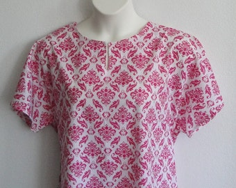 S-2X -  Post Surgery Gown / Shoulder Surgery / Mastectomy - Breast Cancer / Hospice / Hospital / Breastfeeding  - Style Erin