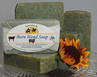 Barn Hand Soap,  Gardeners Soap, Pumice Soap, Handmade Natural Soap, Cold Process Soap, Vegan, Lemon Soap