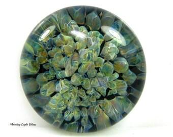 Extra Large Glass Cabochon Bead Boro Nebula Lampwork Implosion Jewelry Supply Paperweight