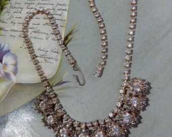 Juliana Clear & Smoky Rhinestone Necklace