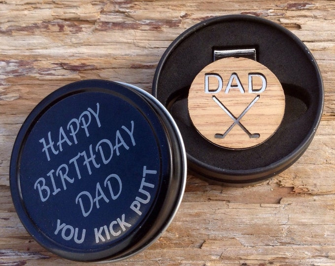 Birthday Gift for Dad, Personalized Golf Ball Marker, Dad Gift,Dad Birthday,Gift For Men,Gift for Husband,Golf accessories,Gift for Husband