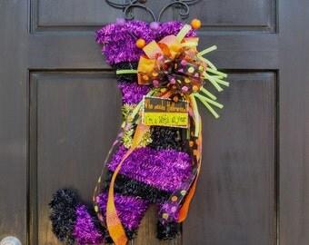 Halloween Witch Boot door hanger