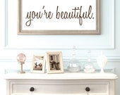 You're Beautiful - Youre Beautiful - Mirror Decals - Mirror Wall Decals - Mirror Sticker - Inspirational Wall Decals - Wall Decor