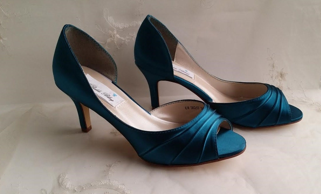 Turquoise Wedding Heels: Teal Wedding Shoes Teal Bridal Shoes Teal Bridesmaid Shoes