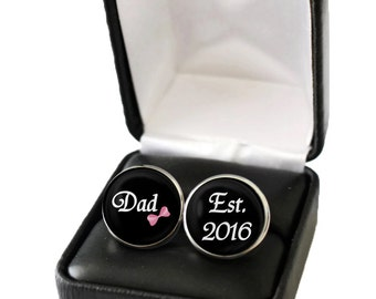 Gender Reveal Idea, Gender Reveal Party, Gender Reveal Gift for New Dad to Be, Unique Pregnancy Announcement to Father New Dad Gift Cufflink