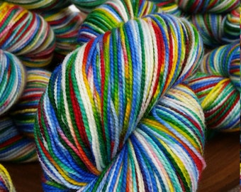 NEW, Fingering, Rainbow Connection, 80/20 First-String PLUS SW Merino Yarn,