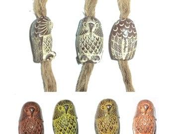Owl dread dreadlocks bead