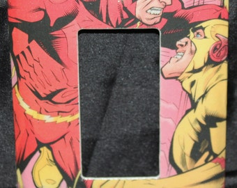 The Flash DC Justice League Zoom Vintage Comic Book Resin Decora Switchplate Light Cover