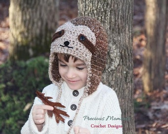 Sloth Hat, Newborn Sloth Hat, Baby Sloth Hat, Adult Sloth Hat, Crochet Sloth Hat, Newborn Photo Prop, Newborn Hat, Child Hat Crochet Boy Hat