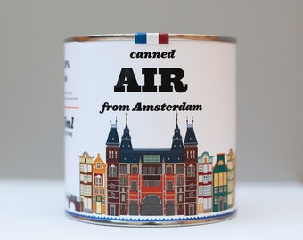 Original Canned Air From Amsterdam, Netherlands, gag souvenir, gift, memorabilia