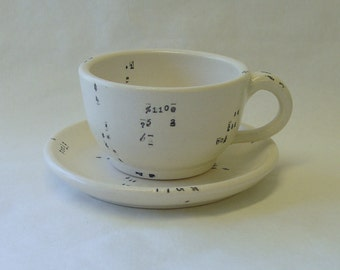 Perl Code Porcelain Cup and Saucer Set