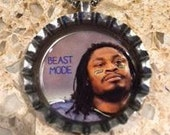 Beast Mode Marshawn Lynch Seattle Seahawk Bottle Cap Necklace- Proceeds Benefit Cancer Research