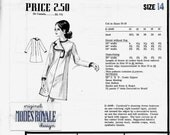 Modes Royale E2446 Cardinali's Right Lapel Dress Sewing Pattern Size 14 Bust 36 with Sew in Label