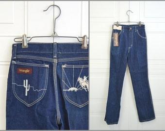 1980s NOS Wrangler Girls' Pony Express Jeans, Size 14 Slim