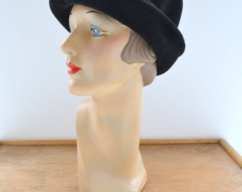 1960s Mr. Frank Original Black Felt Hat