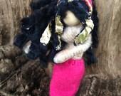 Magical Mermaid OOAK doll; Rosette Caretaker of Seahorses