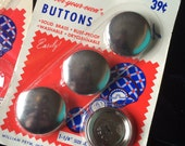 Cover Your Own Buttons in Two Sizes on Original Vintage Cards