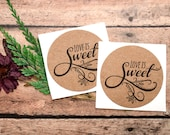 Love is Sweet Stickers, Envelope Seals, Candy Buffet Labels, Packaging Label, Mason Jar Label