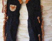 Childrens Suede Chaps - Western Chaps Vintage Dress Up - Cowboy Cowgirl MARKED DOWN 20%