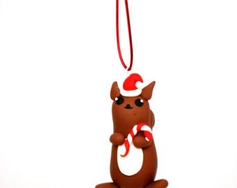 Squirrel Christmas Ornament Rustic Christmas Decoration Squirrel Ornament Christmas Ornaments Animal Lover Gift Nature Lover Gift Ideas