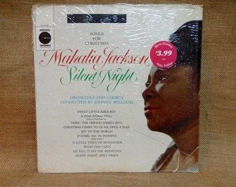 5TH ANNIVERSARY SALE...SEALed...CHRISTmas...Mahalia Jackson - Silent Night -  Vintage Vinyl Record Album