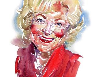 Betty, limited edition fine art (giclée) print, 12 x 16 inches( 30.5 x 40.5 cm.)