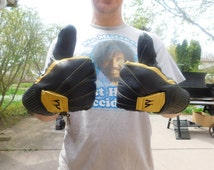 Vintage Men's Leather Ski Mittens By Mohawk Sports Gloves