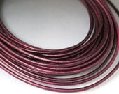 "8"" Purple leather cord 3 mm Purple Core leather cord 3mm Metallic cord leather Purple cord Metallic core leather Purple metallic cord"