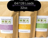 Laundry Soap - Natural Laundry Powder - 64-128 Loads - YOUR CHOICE of SCENT - Goat Milk Laundry Soap - Shady Creek Farm