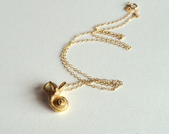 Anatomical Jewelry: Gold-Plated Steel Inner Ear Necklace