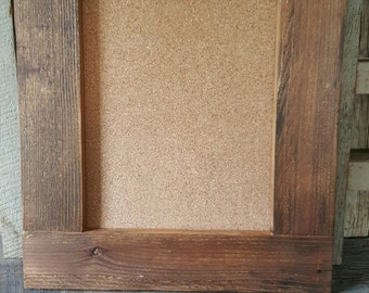 Rustic Wood Cork Board, Corkboard, Framed Corkboard, Bulletin Board
