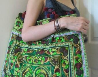 Ethnic Hmong Old Vintage Style Tote Thai Shoulder Bag