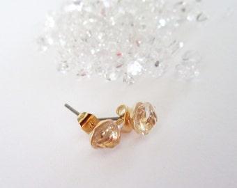 Herkimer Diamond Stud Earrings - Minimalist Post Earrings