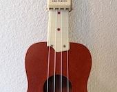 Vintage Golden Mahogany Brown Roy Smeck Harmony Soprano Ukulele Uke With Original Case