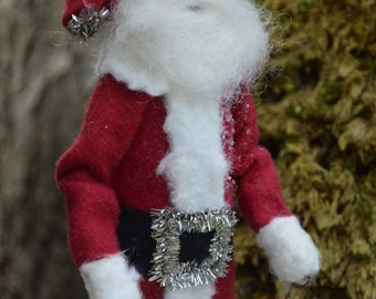 Santa Claus Vintage Ball Folk Art Paperclay