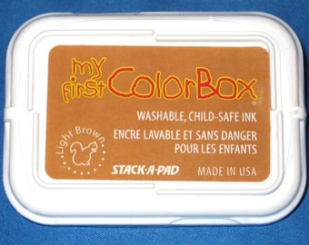 Light Brown Kids Ink, Tan Ink Pad, Nontoxic Light Brown Ink Kids Stamp Pad Child-safe Ink Child Safe Stamp Pad Crafts for Kids